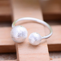 Wholesale Plain Sterling Silver Ring - Jarry 234 Silver wholesale 925 Sterling silver jewelry A novel Ground wire Globular shape Plain silver Female ring