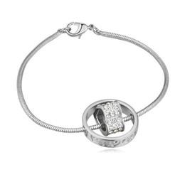 chaîne bracelet en diamant Promotion Bracelets Bracelets Mode Femmes Haute Qualité Cristal 18 K Plaqué Or Alliage Coeur Bracelets De Mariage Bijoux En Gros Drop Shipping TBR001