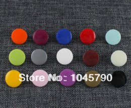 Wholesale Kam Resin Snaps - Free Shipping 600 Sets Size 20 T5 KAM Resin Snap Buttons 15 Mixed Colors For Cloth Bib Diaper
