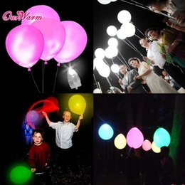 Wholesale Lighting Decoration Products - 50Pcs  Lot White Led Lamps Balloon Lights Led Balloon Light For Wedding Decoration Birthday Party Product Event Party Supplies