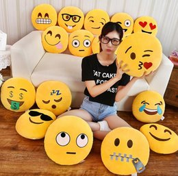 smiley face dolls Promo Codes - 35cm Cute Emoji Pillow Decorative Pillows Smiley Face Pillow Emoticon Cushion Stuffed Plush Toy Doll Home Sofa Bed Throw Pillow