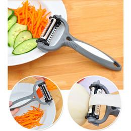 Wholesale Potato Peeler Blades - Multifunctional 360 Degree Rotary Potato Peeler Vegetable Cutter Fruit Melon Planer Grater Kitchen Gadget 3 Blades Peeler