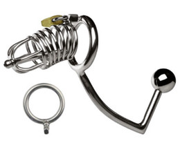 chastity devices uk Promotion Serrouillage de l'appareil Verrouillage Nouvelle courroie UK Chastity Homme Hommes Mesans Fetish Cage Bondage # R2 GPDLR
