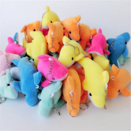 Wholesale Wholesale Cloth Dolls - Cute Small Dolphin Plush Toy Pendant Mobile Phone Pendant Bag Pendant Small Cloth Dolls Stuffed Animal Toys