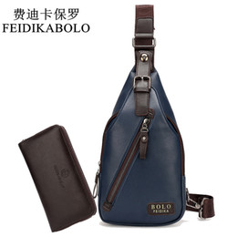 Wholesale Cheap Blue Bags - New Arrival High Quality PU Leather Men Chest Pack Cheap Travel Bag Men's Messenger Bag Male Leisure Bag Three Colors