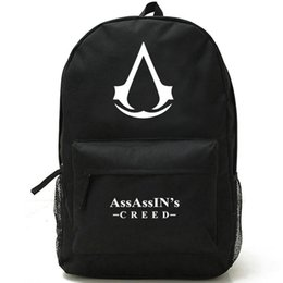 Wholesale Backpack Logos - Assassins Creed backpack Unique logo school bag Hot game daypack Quality schoolbag Outdoor rucksack Sport day pack