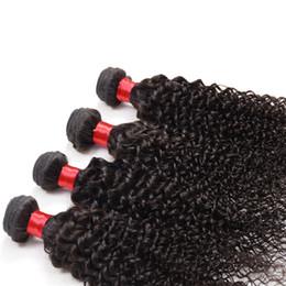 Wholesale Wholesale Brazilian Weave Uk - malaysiann kinky curly hair 4pcs tissage bresilienne lots 4 100% brazilian indian cambodian peruvian kinky curly remy hair weave uk