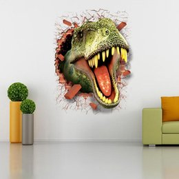 Wholesale Dinosaur Stickers - free shipping 1 PCS Home Wall Removable Stickers Dinosaur Kids Decals Art Decor 50X 70CM #92547