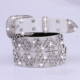 Wholesale Decoration For Belts - Wholesale- PU belt female leisure diamond fashion white decoration waist belt for women cummerbunds