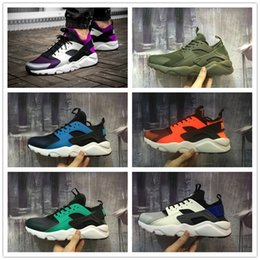 Wholesale Cheap Light Up Shoe Laces - 2016 Top quality HUARACHE 4 Men's Womens Running Shoes for Cheap Sale Airs 3 Mesh Mens Fashion Outdoor Sports Jogging Sneakers Size 36-45