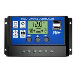 Wholesale Solar Cells For 12v Battery - 10A 20A 30A 12V 24V LCD Solar Charge Controller with Auto Regulator Timer for Solar Panel Battery Overload Protection