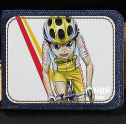 Wholesale Note Cycling - Glory road wallet Onoda sakamichi cartoon purse Animation cycle racing short cash note case Money notecase Leather burse bag Card holders