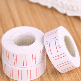 Wholesale Set Price Tags - 2017 new 20 Rolls set lot Price Label Paper Tag Tagging Pricing For Gun White 500pcs roll