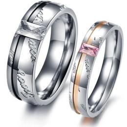 um anel de dedo Desconto ZHF JÓIA presente do amante de aço inoxidável anéis de dedo do casal nunca se desvanece NOVA CHEGADA um par preço 327
