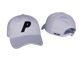 Wholesale Girls Cotton Baseball Caps - P Letter Snapback Sport Hat Women Men Adjustable Woes Baseball Cap cotton denim Hat HipHop Baseball Palace Cap gorras casquette hats