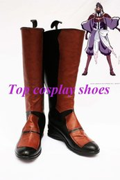 Wholesale Bleach Cosplay Shoes - Wholesale-Freeshipping custom-made anime Bleach noba PU Leather Cosplay Boots shoes for Halloween Christmas festival