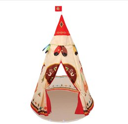 Wholesale Toys Tent House - Indian Style Waterproof tents Free DHL Children Play House Castle Tent for Indoor children Outdoor games tents toy house B001