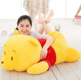 Wholesale Pooh Bear Toys - Big Large Stuffed the Pooh Bear Soft Plush Baby Kids Cute Toys Doll 85CM