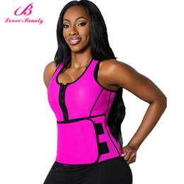 Wholesale Shapewear Tanks - Wholesale- Lover Beauty Waist Trimmer Trainer Belt Women Shapewear Weight Loss Neoprene Sauna Tank Top Vest Body Shaper Slimming Fajas -25