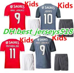 Wholesale Sports Jersey Kits - 17 18 Benfica kids Soccer Jersey kits best quality 2017 2018 LOPEZ SALVIO RAUL JIMENEZ JONAS Children Sports football Shirts