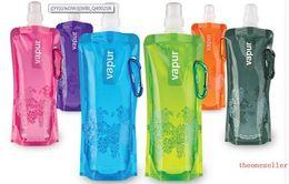 Wholesale Foldable Water Bottles - Water Bottle Comes Flat, Foldable Water Bottle Collapsible 0.48 Litres Anti-Bottle free shipping