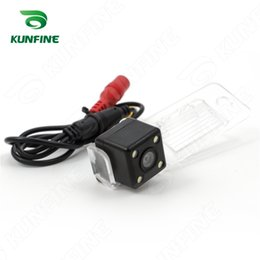 Wholesale Vw Tiguan Led - CCD Track line Car Rear View Camera For VW Tiguan Touareg Santana Passat Polo saloon Parking Camera Night Vision LED Light KF-V1162L