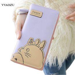 Wholesale wallet totoro - Wholesale- Fashion My Neighbor Totoro Women Wallets Cartoon Card Holder Coin Purse Zipper & Hasp Clutch Long Wallet Dollar Price