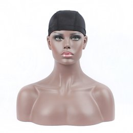 Wholesale Wholesale Wig Making Caps - Wholesale 100Pcs Lot Black Fashion Hairnets Top Quality Black Elastic Nylon Hairnet Wig Making Caps Free Size Stretch Dome Weave Cap 18g Pcs