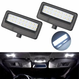 Wholesale H11 Led Xenon - 2Pcs Car Styling Auto LED Vanity Mirror Lamp Reading Lights Bulbs for BMW F10 F11 F07 F01 F02 F03 5 Series 7 Series Xenon White