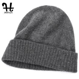 d5bedea2 Furtalk Unisex Mens Winter Knitted 100 %Wool Warm Hat For Women Daily Slouchy  Hats Beanie Skull Cap Casual Skullies Beanies