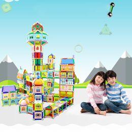 Wholesale Diy Blocks Pcs - 800 Pcs Set DIY Magnetic Building Blocks Magnetic Block Bricks Learning And Educational Toys For Children Magic Toys