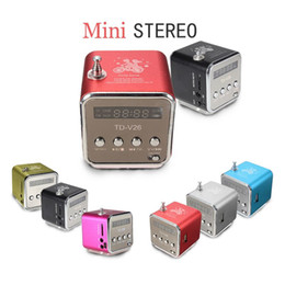 Wholesale Iphone Aluminum Button - Quality USB Stereo Speaker & fashion Portable Micro Subwoofers & FM Radio For iPad For iPhone For Samsung