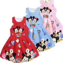 Wholesale Tutu Skirts Minnie - Wholesale sleeveless baby girls mickey minnie skirts children cartoon cute dress for 2-7 years three colors