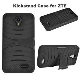 Wholesale Trio Cases - Newest Hot Sale Rugged Defender Armor Case Hybrid Kickstand Cover for ZTE Zmax Pro Z981 MetroPCS ZTE Avid Trio Z831 N9132 Uhura