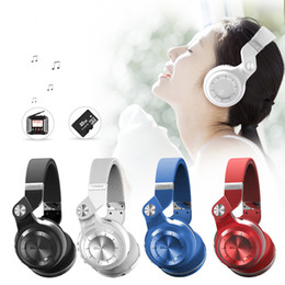Wholesale Wireless Pc Headset - Bluedio T2 Bluetooth Headphone Wireless 4.1 Stereo Headset Foldable Stretchable Support TF Card FM Bass HIFI For iPhone PC Android