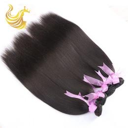 Wholesale Yaki Remy Human Hair Wigs - Trebellar Hair Products Human Hair Weaves Supple Yaki Straight Human Hair Bundles with Closure Unprocessed Virgin Dyeable Human Hair Wigs