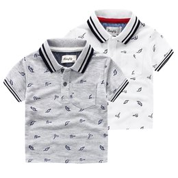Wholesale Boys Oxford Shirts - Boys T-shirt White Polos Short Sleeve Shirts With Korean Style For Casaul T-Shirts Oxford Cloth 100% 2016 New Hot Summer High Quality
