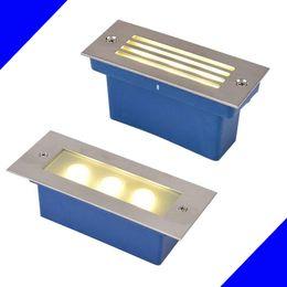 Wholesale Floor Lighting Fixtures - 3W LED underground light lamps outdoor buried recessed floor lamp Waterproof IP67 AC85V-265V Garden Landscape stair lighting Fixture