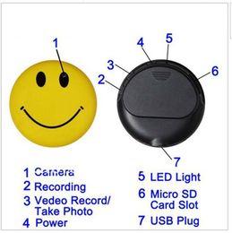 Wholesale Spy Car Security Camera - Hot Sell Smiley Face Hidden DVR Mini Spy Cam Car Security Camera HD Audio Video Recorder USB Webcam Camcorder