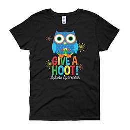 Wholesale Hoot Shirts - 2017 Sleeve T Shirt Summer Men Tee Tops Clothing Give a hoot - Autism Awareness