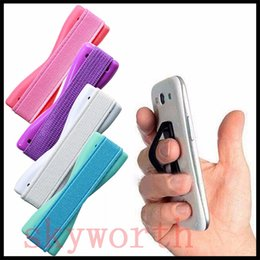 Wholesale Handle Pc Tablet - Universal Handle Finger Grip Portable Holder Elastic One-handed Operation for Mobile Phone iPhone 6S Samsung PC Tablet Reader