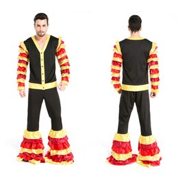 Wholesale Mardi Gras Themes - Halloween Party Magician Tuxedo Circus Costumes Masquerade The circus Cosplay Carnival stage performance clothing theme costume apparel