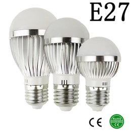 Wholesale E27 18w Globe - LED Silver metal bulb E27 AC85-265V Driver with IC 10W 18W 25W 120 degree beam angle Epistar chip CE RoHS