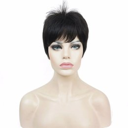 Wholesale super short wigs - Super Short Layered and Spikey Blonde Full Synthetic Wig Wigs