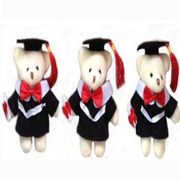 Wholesale Cloth Soft Book - Stuffed Animals Graduation bear 13cm Em Plush Toy With Hat and Book Formatura Doctor bears Soft Dolls
