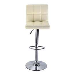 Wholesale Bar Counter Chairs - 1 PC Bar Stool PU Leather Barstools Chair Adjustable Counter Swivel Pub