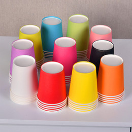 Wholesale Disposable Sleeves - 50PCS   Lot Disposable Paper Coffee Cups Set With Travel Lids and Sleeves Cups for Hot Cold Drinks Coffee Tea Chocolate To Go Coffee Cup 7oz