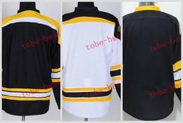 Wholesale Mens Blank Hockey Jerseys - Boston Bruins blank Cheap Hockey Jerseys ICE Winter mens women kids Stitched Jersey Free shipping