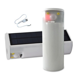 Luci magnetiche portatili online-Luce esterna portatile da campeggio a LED Base magnetica di emergenza rechargebale Lanterna ad energia solare ultra luminosa 30 LED per escursioni, emergenza