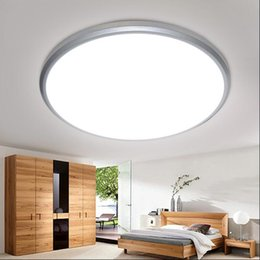 Wholesale Acrylic Shell Led - Modern Led Ceiling Lights Lamp For Living Room Bedroom Super thin acrylic plate indoor LED Lights 28 38cm Round Silver Gold Shell